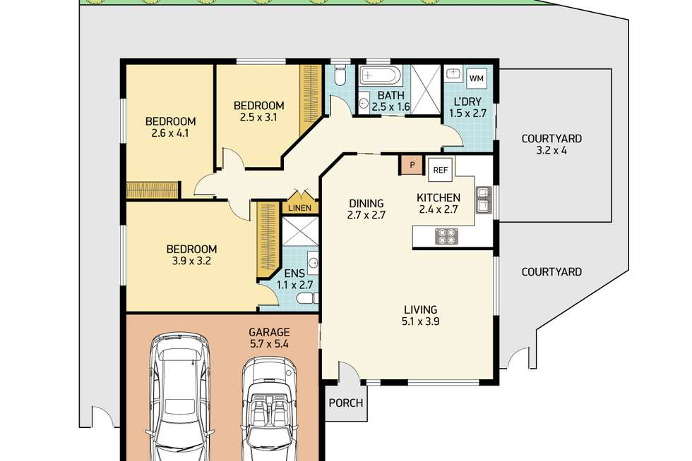 Floorplan of Homely house listing, 1/10 Endeavour Place, Salamander Bay NSW 2317