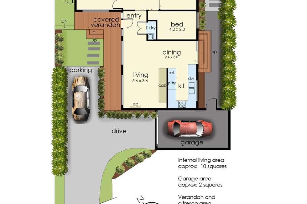 Floorplan of Homely unit listing, 2/53 Kenilworth Avenue, Frankston VIC 3199