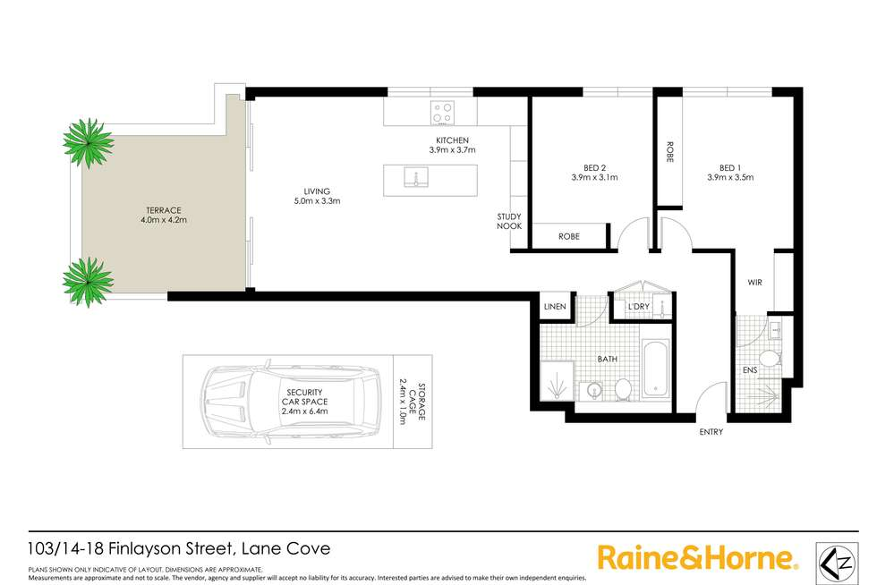 Floorplan of Homely apartment listing, 103/14-18 Finlayson Street, Lane Cove NSW 2066