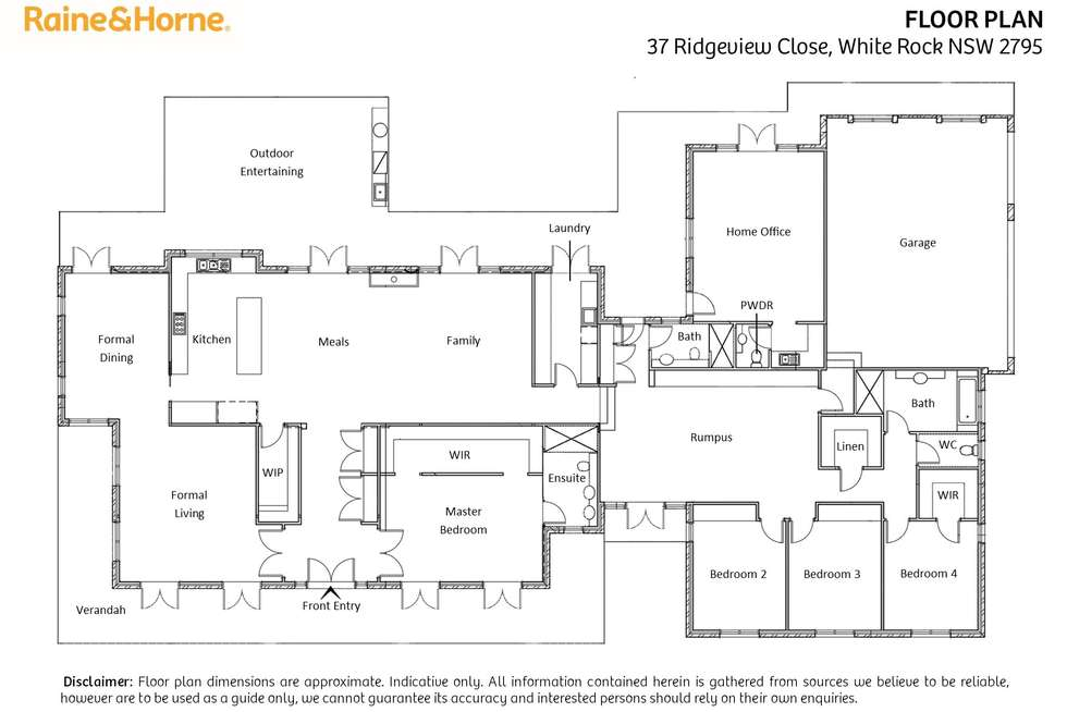 Floorplan of Homely house listing, 37 Ridgeview Close, White Rock NSW 2795