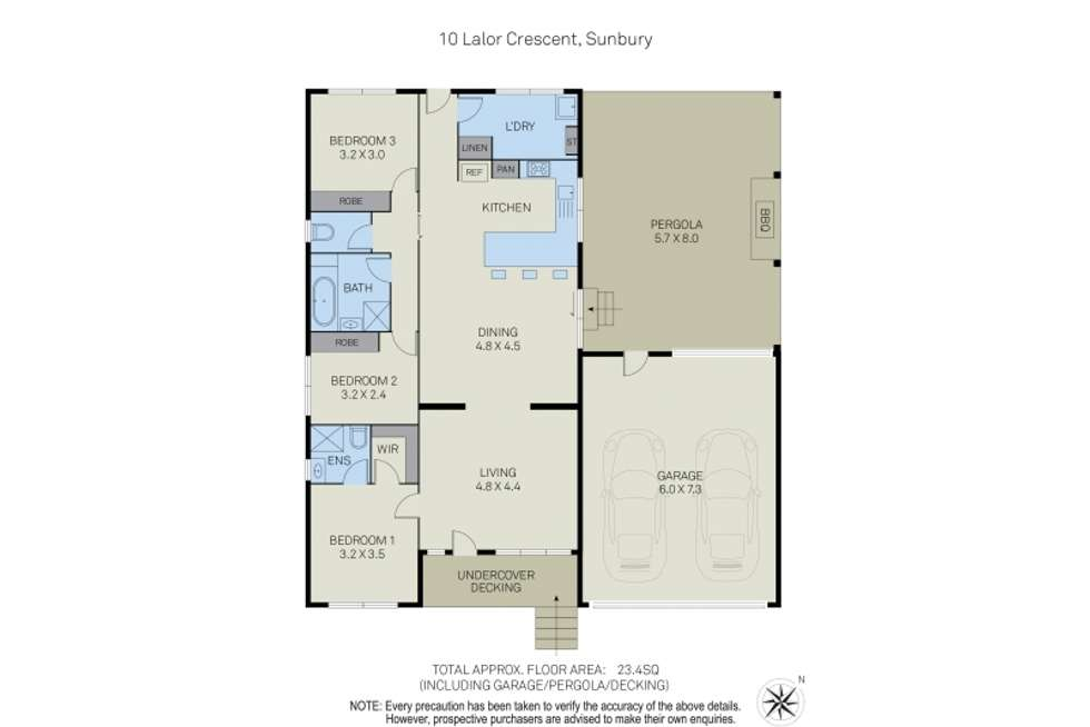 Floorplan of Homely house listing, 10 Lalor Crescent, Sunbury VIC 3429