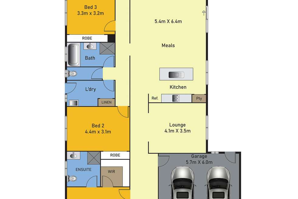 Floorplan of Homely house listing, 26 Holloway Street, Manor Lakes VIC 3024