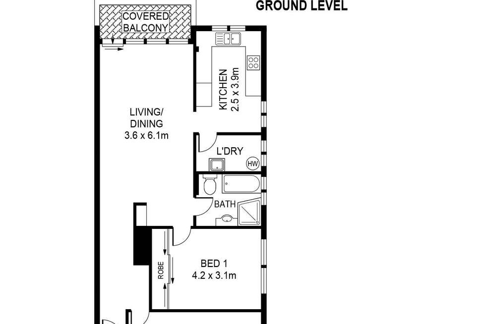 Floorplan of Homely unit listing, 15/19-21 Harrow Road, Bexley NSW 2207