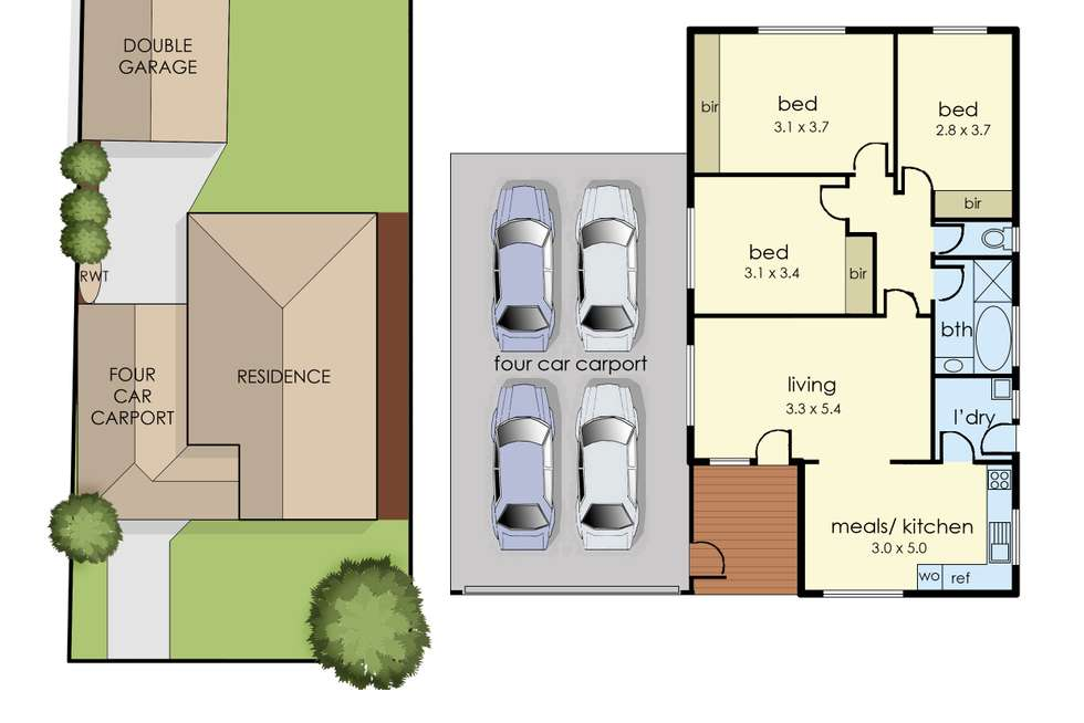 Floorplan of Homely house listing, 20 Olstead Drive, Baxter VIC 3911