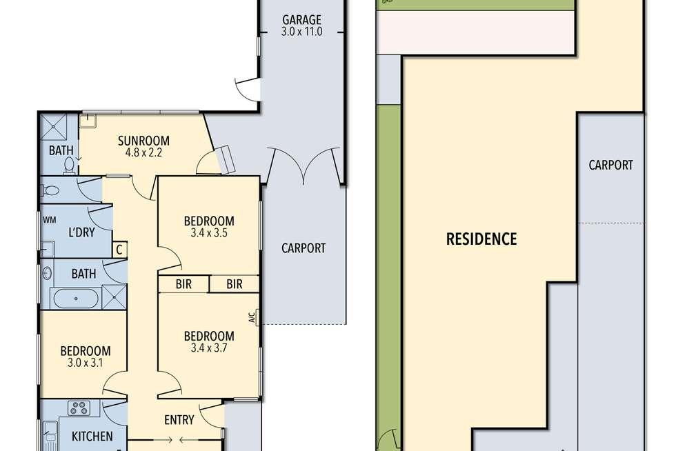 Floorplan of Homely house listing, 24 Speight Street, Newport VIC 3015