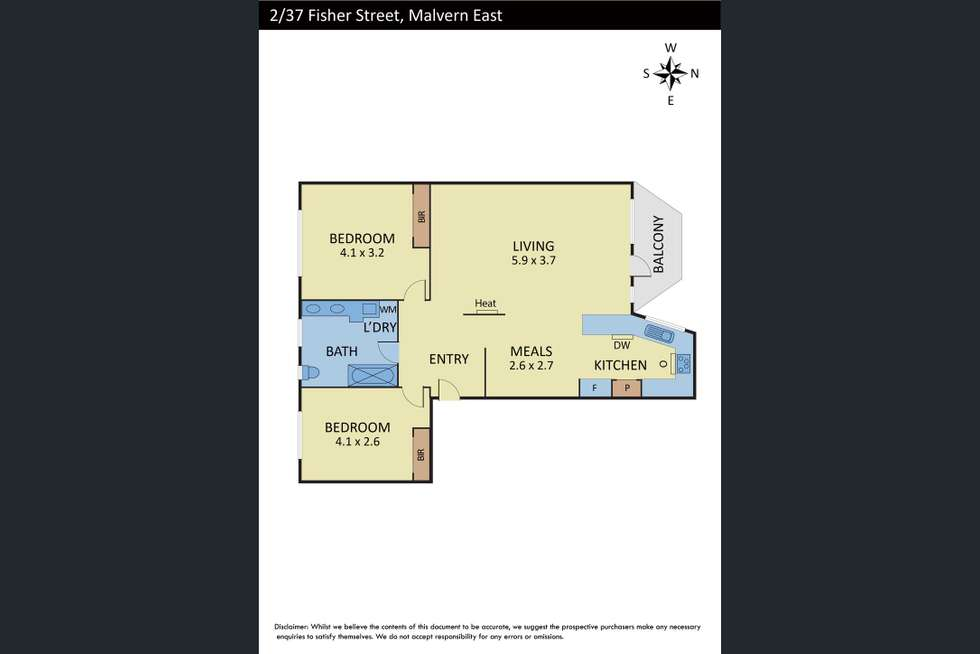 Floorplan of Homely apartment listing, 2/37-39 Fisher Street, Malvern East VIC 3145