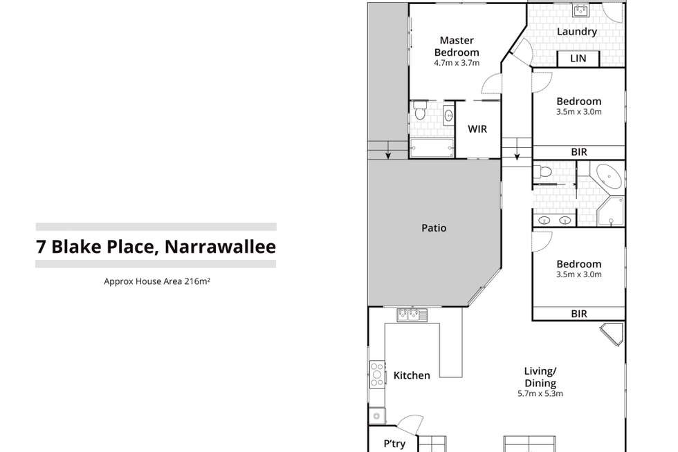 Floorplan of Homely house listing, 7 Blake Place, Narrawallee NSW 2539
