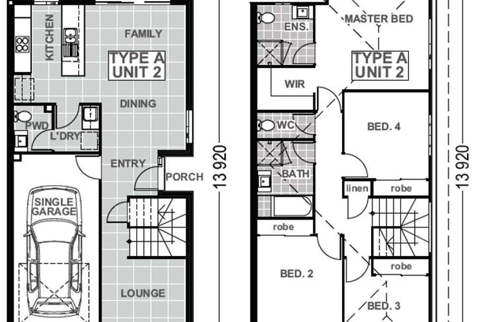 Floorplan of Homely townhouse listing, 25/430 Gainsborough Drive, Pimpama QLD 4209