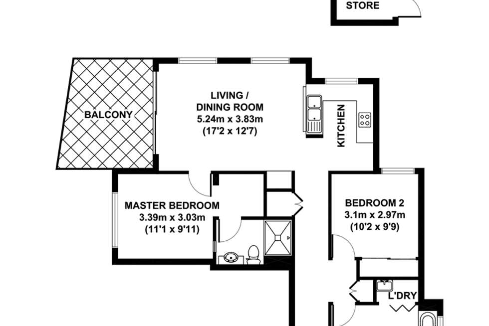 Floorplan of Homely apartment listing, 69/2 Campbell Street, Toowong QLD 4066
