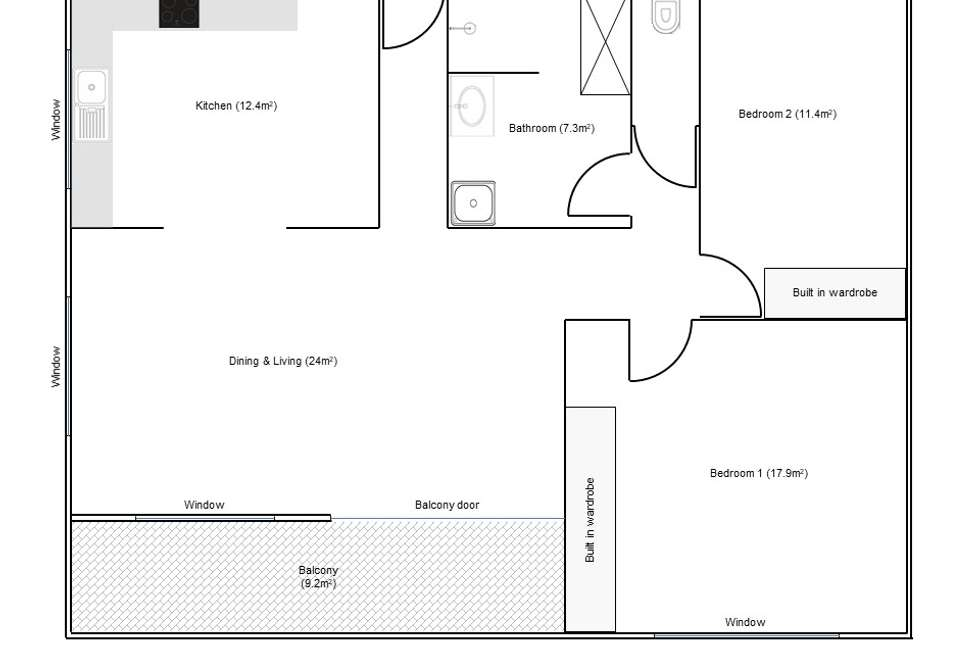 Floorplan of Homely unit listing, 9/179 Sir Fred Schonell Drive, St Lucia QLD 4067