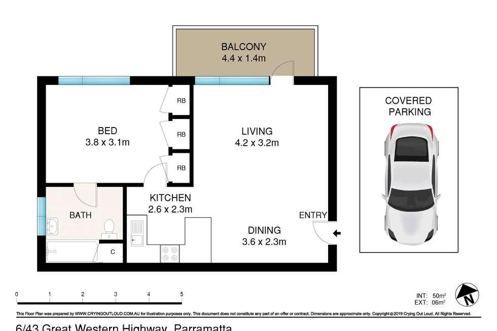 Floorplan of Homely unit listing, 6/43 Great Western Highway, Parramatta NSW 2150