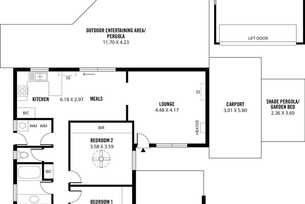 Floorplan of Homely house listing, 98 Marston Drive, Morphett Vale SA 5162