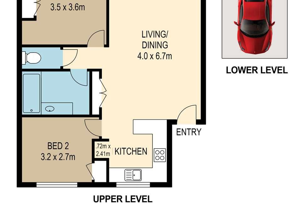 Floorplan of Homely apartment listing, 9/9-11 Ascog Terrace, Toowong QLD 4066