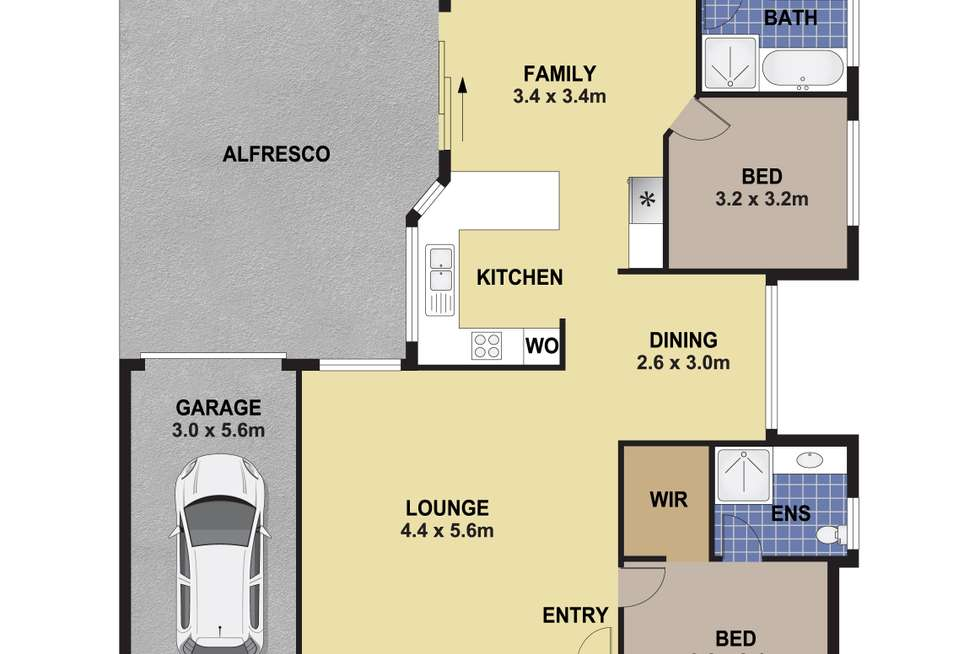Floorplan of Homely house listing, 68 Kendall Drive, Casula NSW 2170