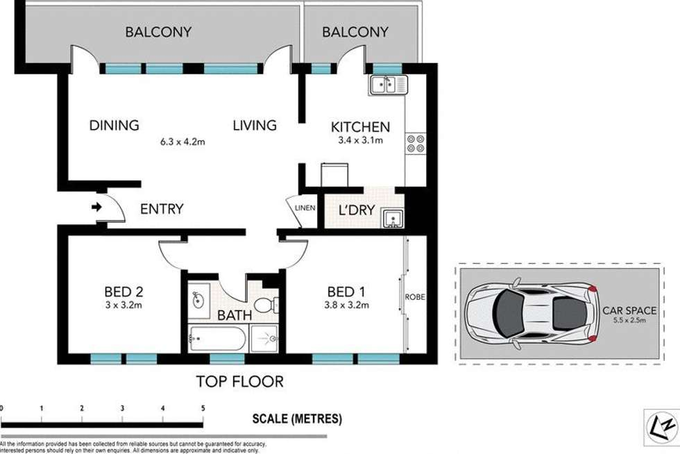 Floorplan of Homely apartment listing, 6/8 Murray St, Lane Cove North NSW 2066