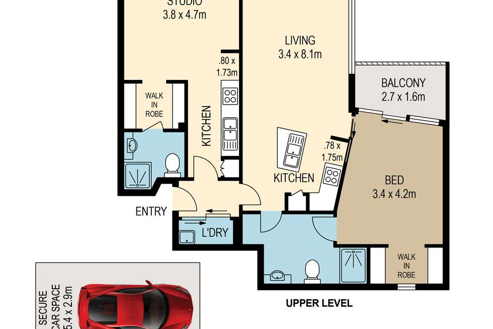 Floorplan of Homely apartment listing, 15/50 High Street, Toowong QLD 4066