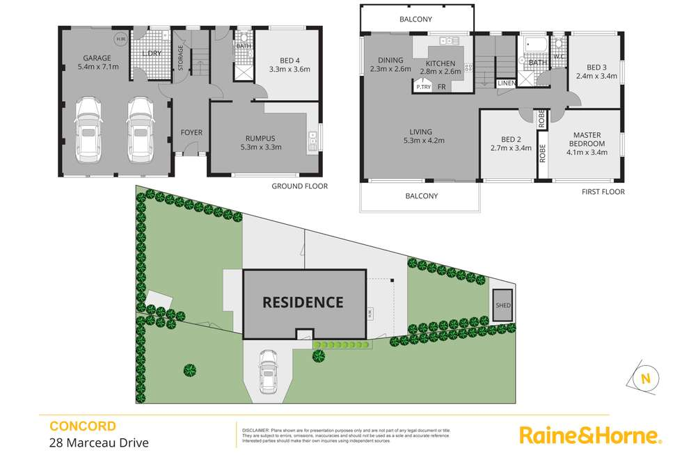 Floorplan of Homely house listing, 28 Marceau Drive, Concord NSW 2137