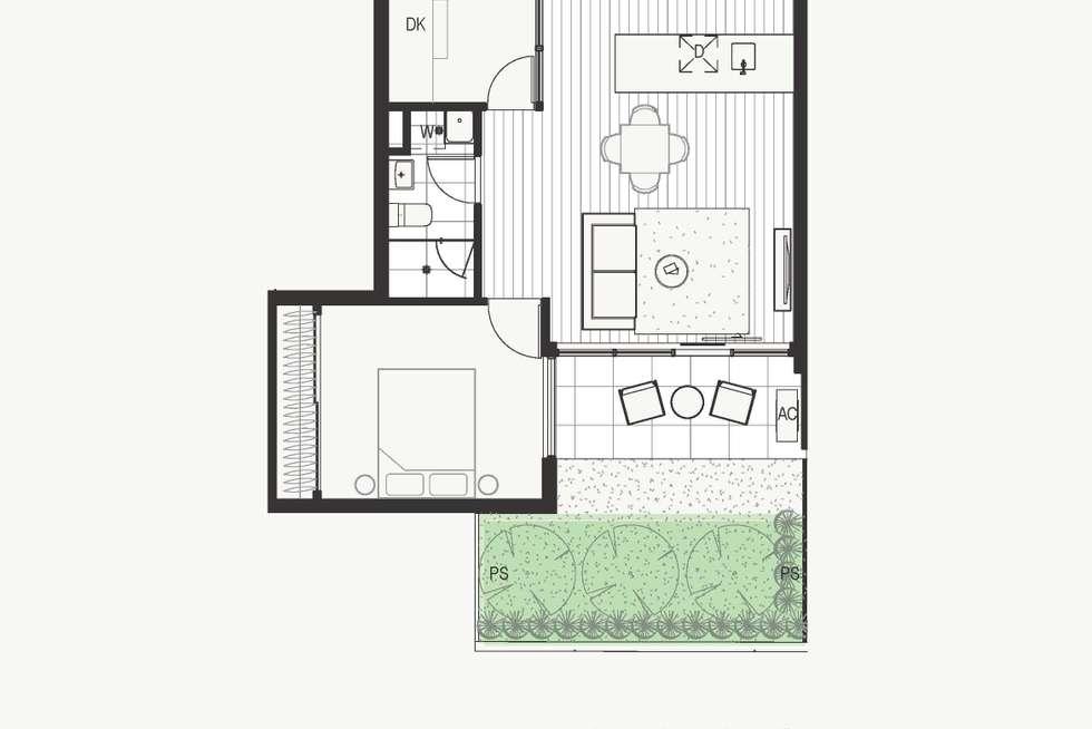 Floorplan of Homely apartment listing, 2.02/65 Nicholson Street, Brunswick East VIC 3057