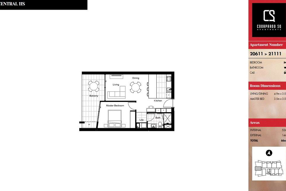 Floorplan of Homely apartment listing, 21111/300 Old Cleveland Road, Coorparoo QLD 4151