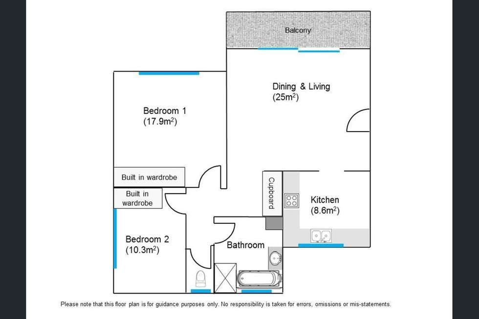 Floorplan of Homely unit listing, 6/179 Sir Fred Schonell Drive, St Lucia QLD 4067