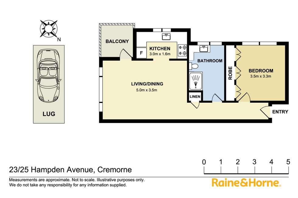 Floorplan of Homely apartment listing, 23/25 Hampden Avenue, Cremorne NSW 2090