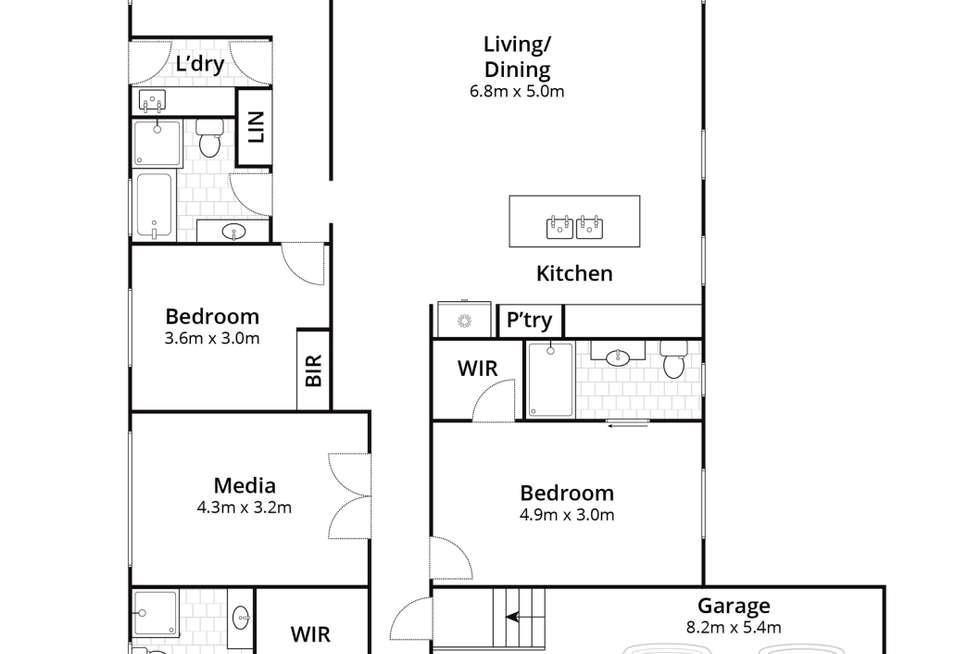 Floorplan of Homely house listing, 41 Gemini Way, Narrawallee NSW 2539