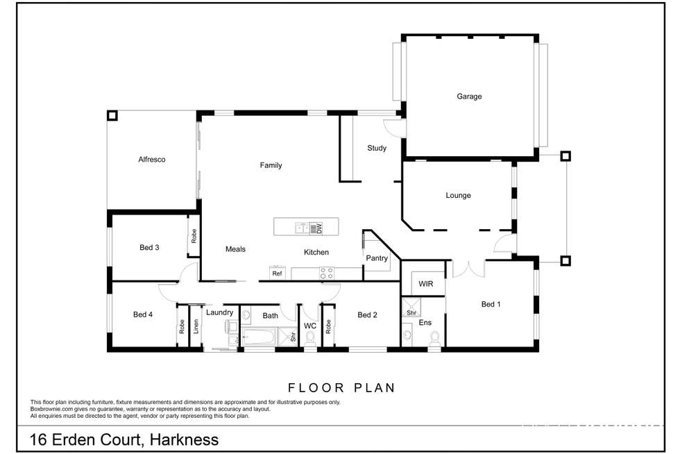 Floorplan of Homely house listing, 16 Erden Court, Harkness VIC 3337