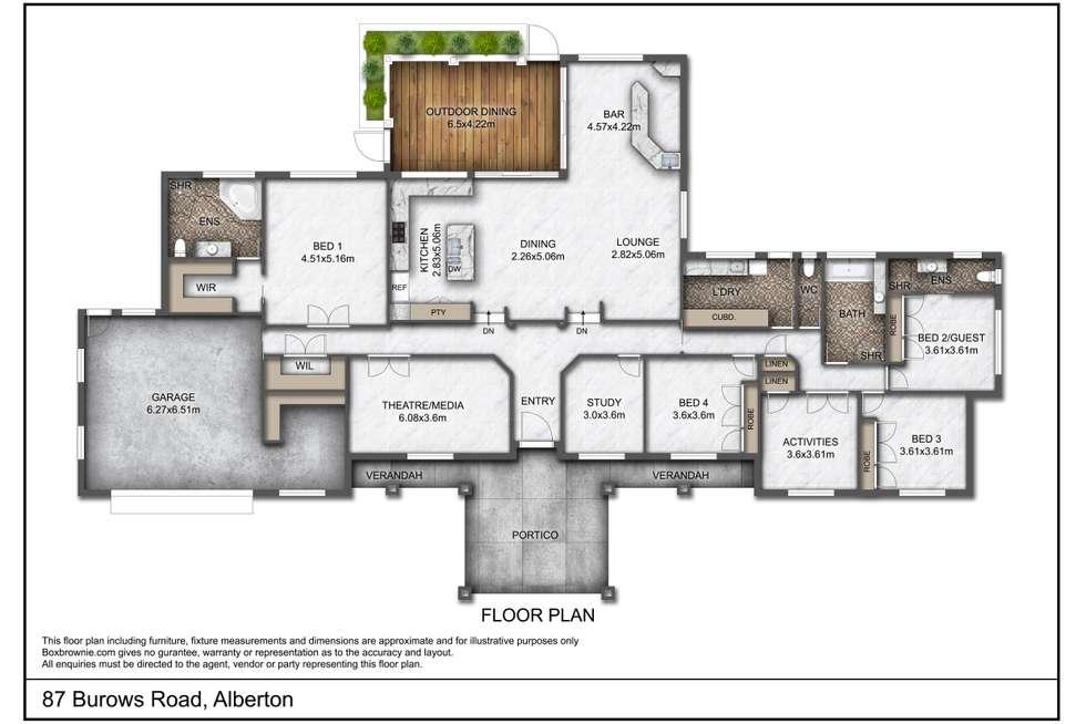 Floorplan of Homely acreageSemiRural listing, 87 Burows Road, Alberton QLD 4207