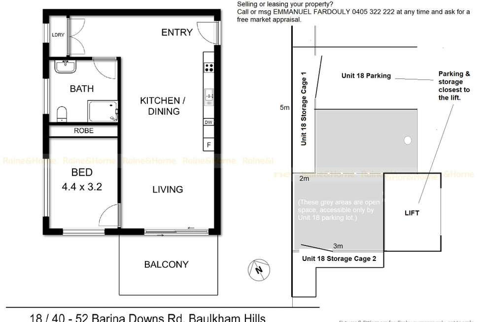 Floorplan of Homely apartment listing, 18/40-52 Barina Downs Road, Baulkham Hills NSW 2153