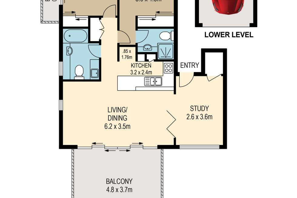 Floorplan of Homely apartment listing, 12/42-48 Durham Street, St Lucia QLD 4067