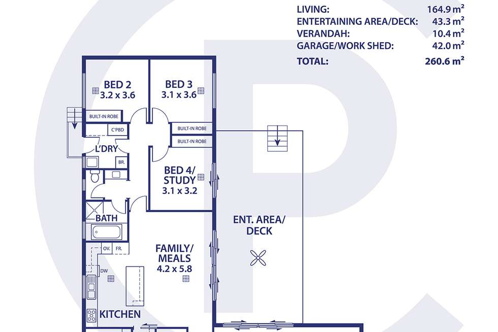 Floorplan of Homely house listing, 10 Willson Drive, Normanville SA 5204