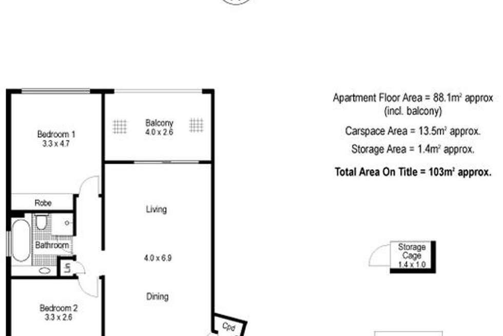 Floorplan of Homely apartment listing, 9C/37 Reynolds Street, Cremorne NSW 2090