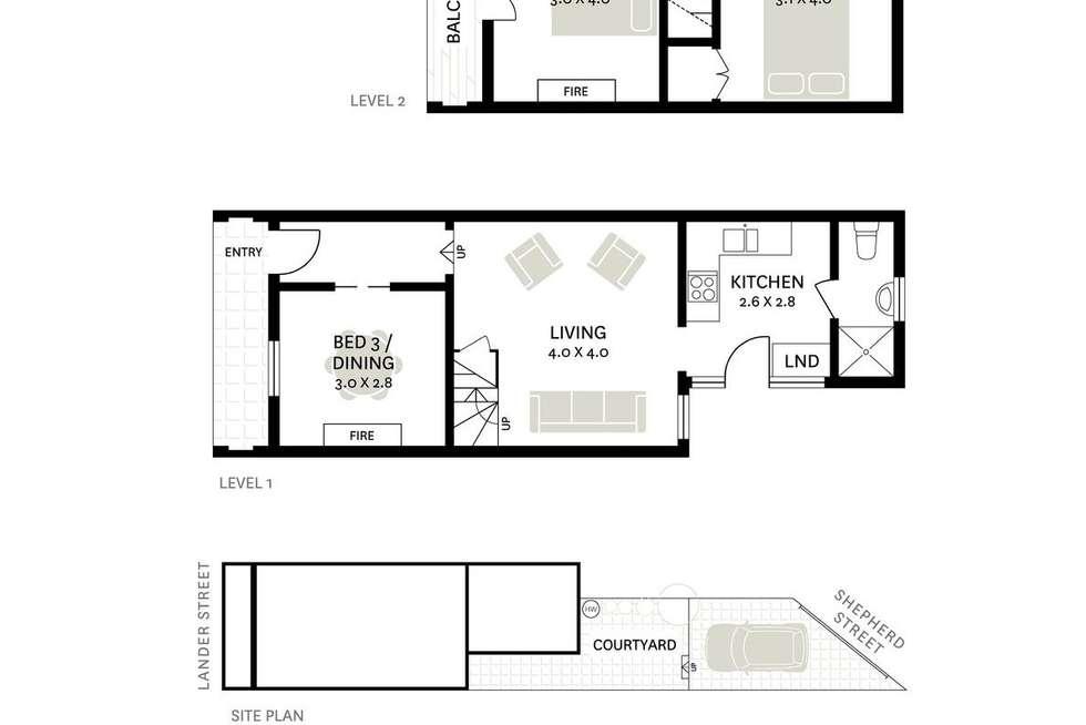 Floorplan of Homely house listing, 52 Lander Street, Darlington NSW 2008