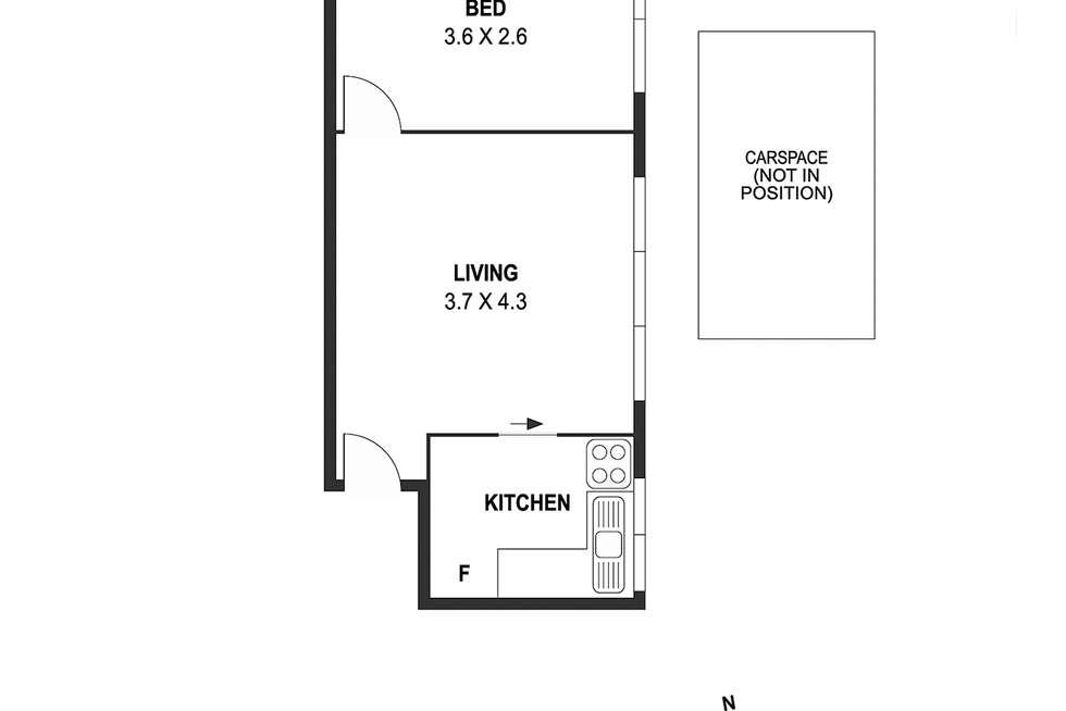 Floorplan of Homely apartment listing, 2/12 Dickens Street, Richmond VIC 3121