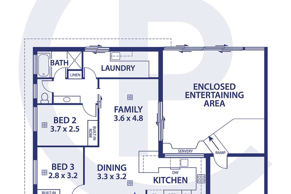 Floorplan of Homely house listing, 40 Davis Avenue, Christies Beach SA 5165