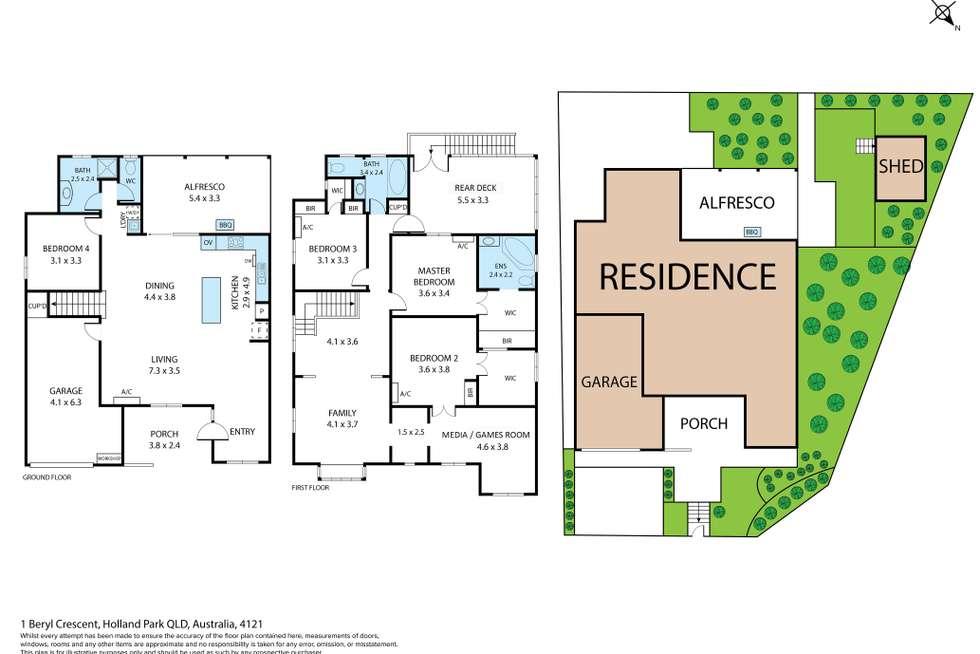 Floorplan of Homely house listing, 1 Beryl Crescent, Holland Park QLD 4121