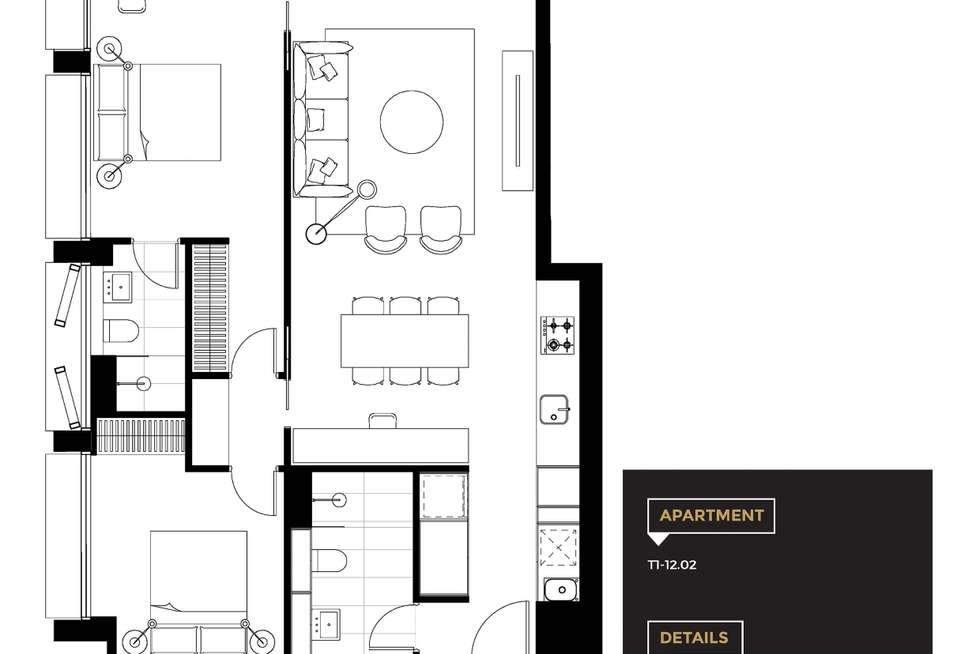 Floorplan of Homely unit listing, Tower 1 Lawson Square, Redfern NSW 2016
