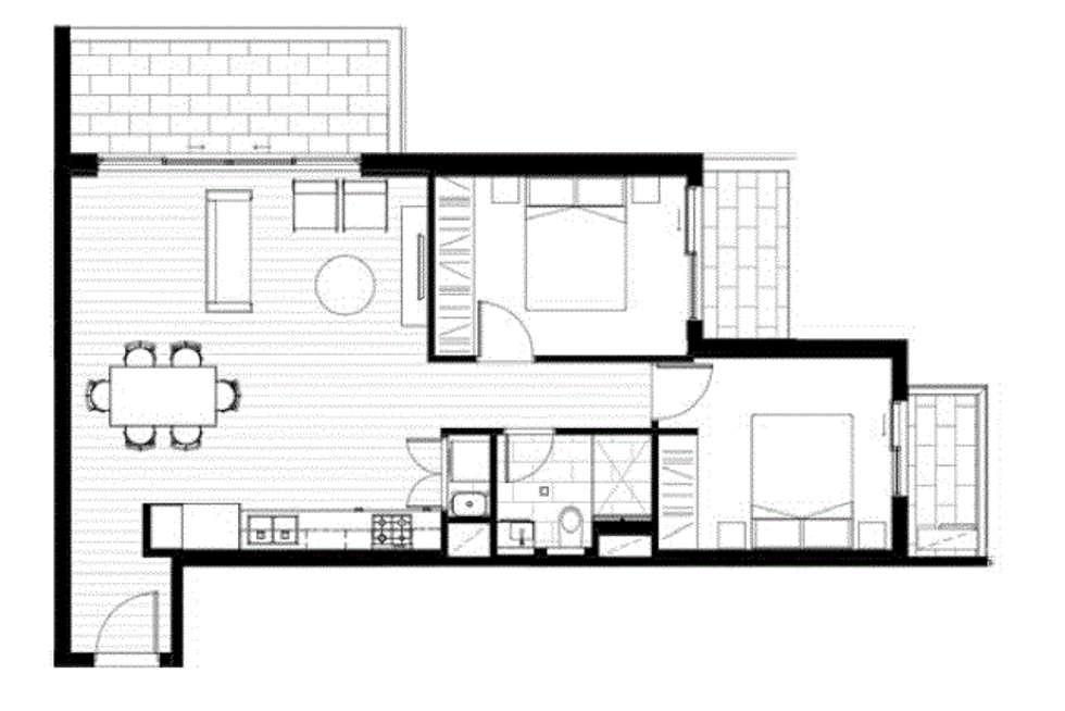 Floorplan of Homely apartment listing, 202/77-81 Hobsons Road, Kensington VIC 3031