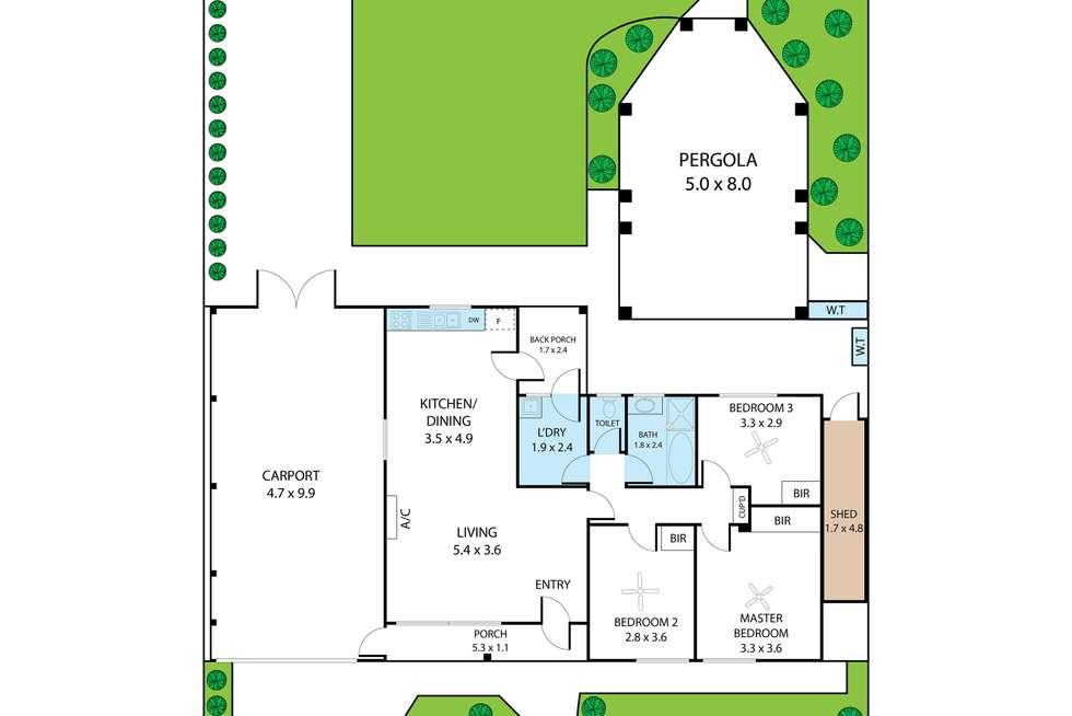 Floorplan of Homely house listing, 8 Riordan Street, Morphett Vale SA 5162