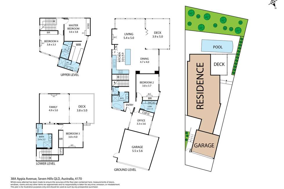 Floorplan of Homely house listing, 38A Appia Avenue, Seven Hills QLD 4170
