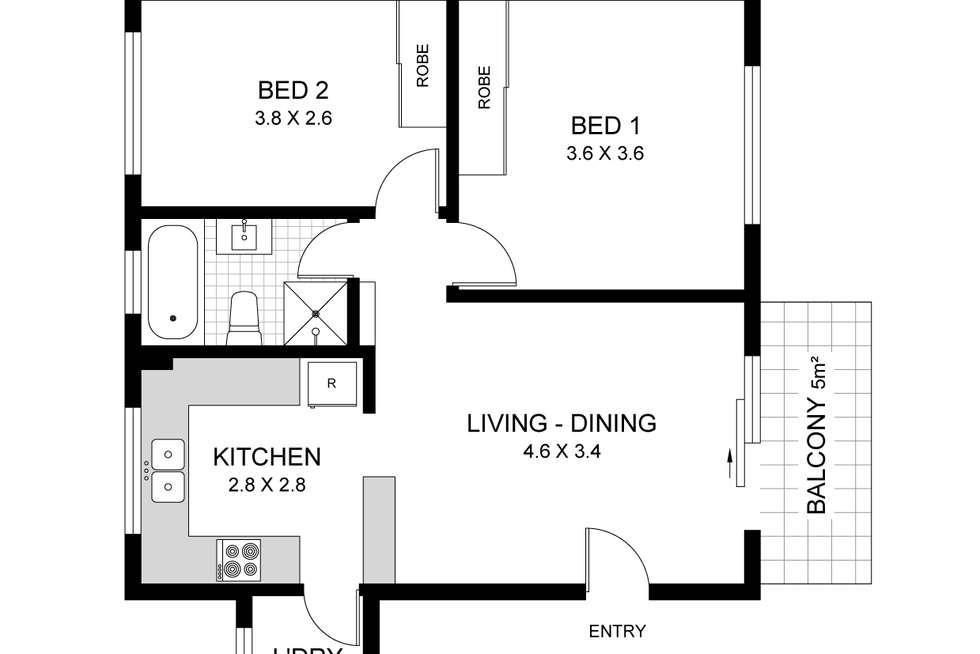 Floorplan of Homely apartment listing, 2/168 Croydon Avenue, Croydon Park NSW 2133