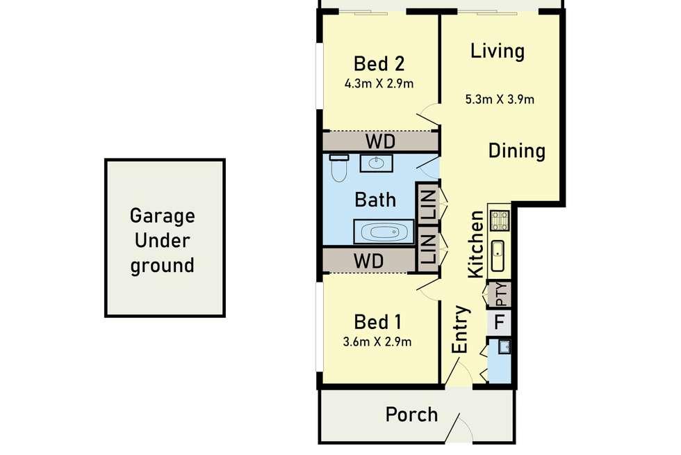 Floorplan of Homely apartment listing, 101/264 Waterdale Road, Ivanhoe VIC 3079