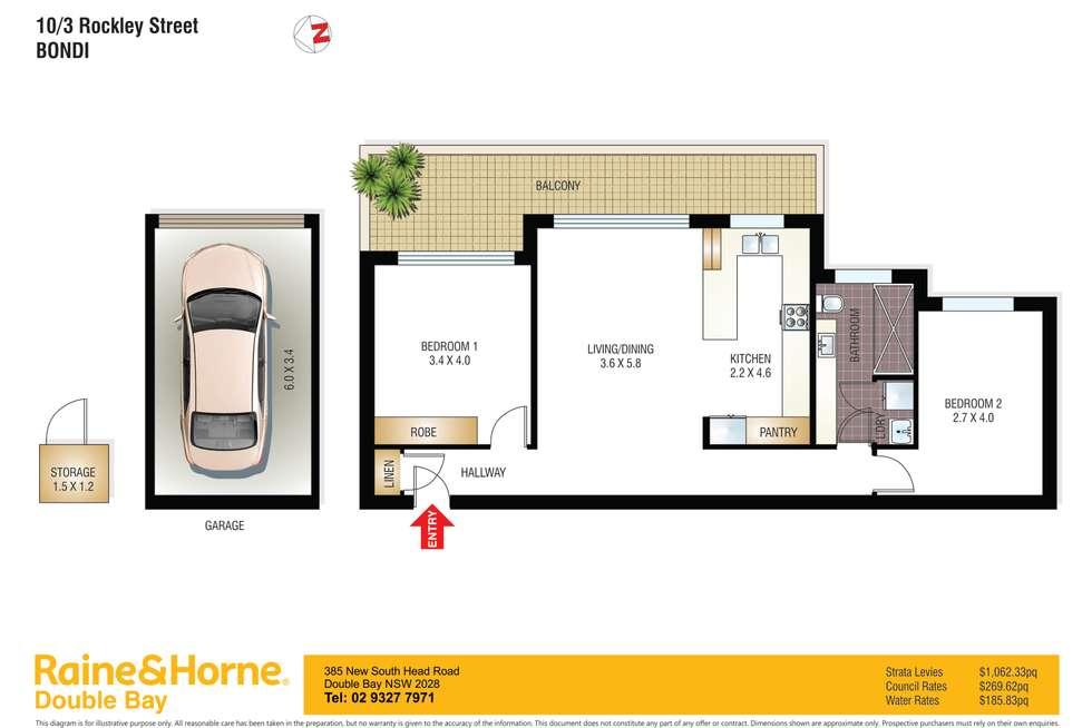 Floorplan of Homely apartment listing, 10/3 Rockley Street, Bondi NSW 2026