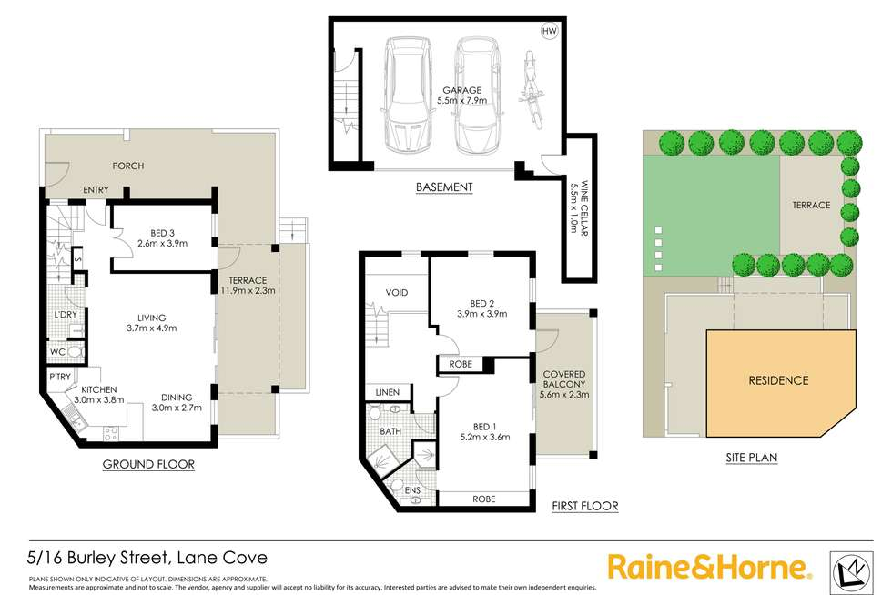 Floorplan of Homely townhouse listing, 5/16-18 Burley Street, Lane Cove NSW 2066