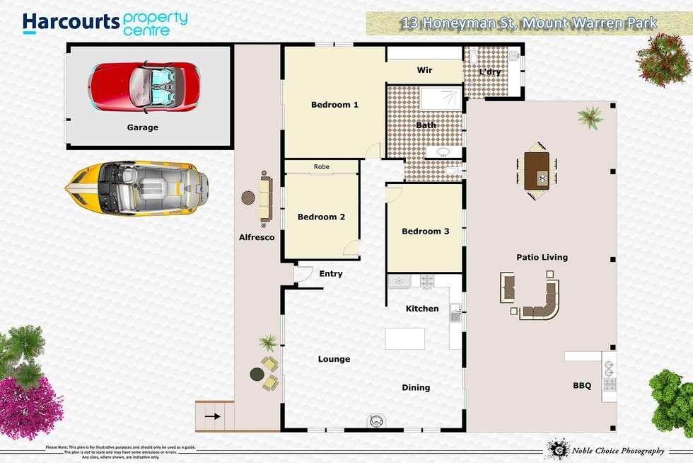 Floorplan of Homely house listing, 13 Honeyman Street, Mount Warren Park QLD 4207