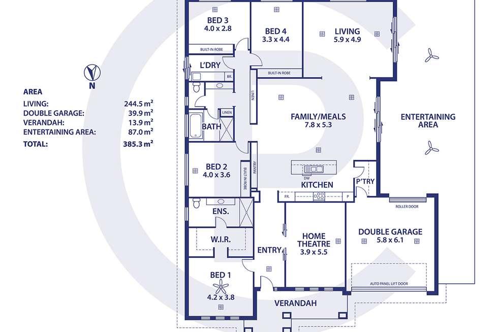 Floorplan of Homely house listing, 47 Bluestone Drive, Mount Barker SA 5251