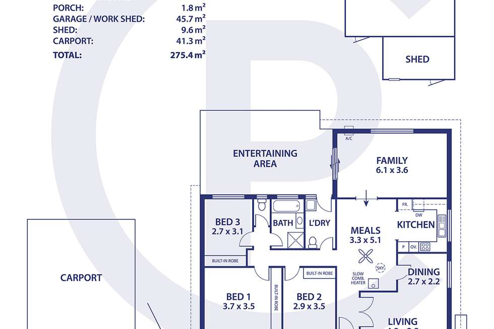 Floorplan of Homely house listing, 36 Clems Lane, Littlehampton SA 5250