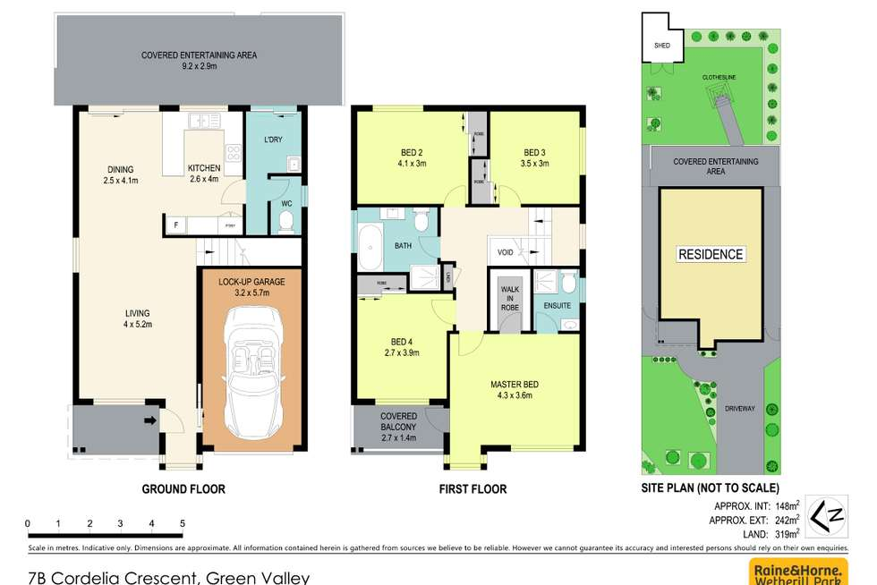 Floorplan of Homely house listing, 7B Cordelia Crescent, Green Valley NSW 2168
