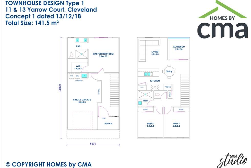 Floorplan of Homely house listing, 11 Yarrow Court, Cleveland QLD 4163