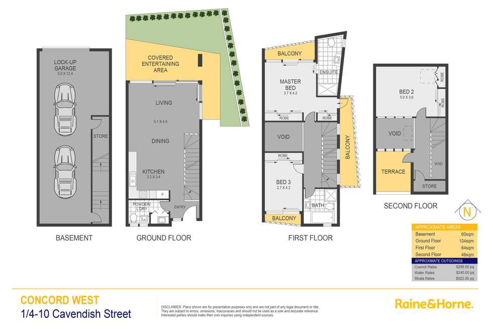 Floorplan of Homely townhouse listing, 1/4-10 Cavendish Street, Concord West NSW 2138